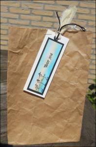klein zakje met mini labeltje gemaakt
