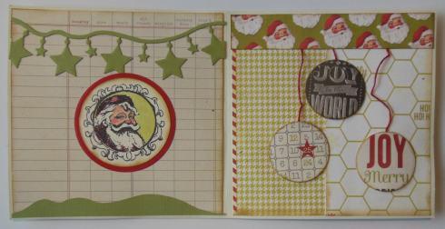 Kerst scrapcard met Heidi Swapp binnenkant