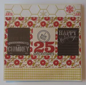 Kerst scrapcard met Heidi Swapp papier achterkant