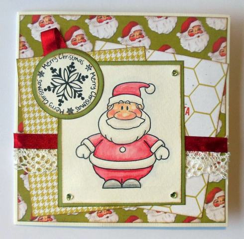 Kerst scrapcard met Heidi Swapp papier voorkant