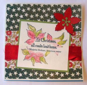 Kerst scrapcard met Heidi Swapp papier