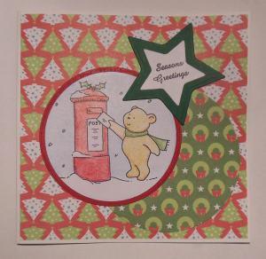 Kerstkaart met Elzybells Kerst beer 2