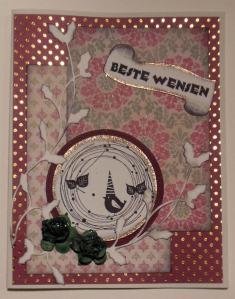 Kerstkaart met Papermania papier