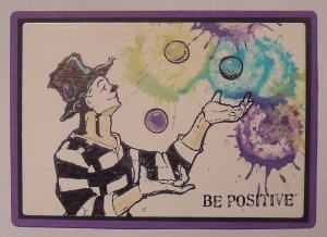 ATC distress stain en Katzelkraft Be Positive