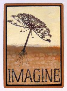 ATC Imagine met Art Journey en distress paint