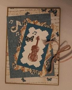 Kaart oom viool