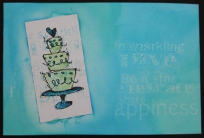 workshop artspecially lap met water stempel techniek