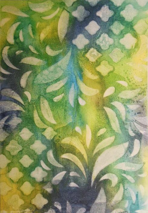 Day 4 Distress Crayon Gesso Fresco