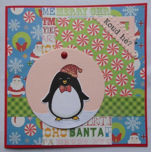 kerst-scrapcard-met-papier-van-action-en-hero-arts-pinguin