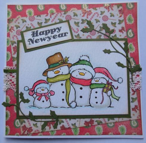 kerst-scrapcard-met-papier-van-action-en-wild-rose-stempel