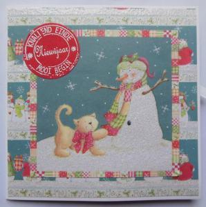 kerstkaart-met-first-edition-papier-en-sneeuwpop-thema