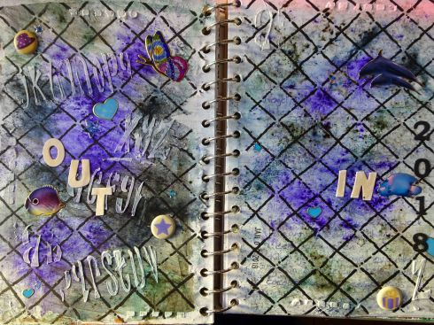 2018-01-06 Art Journal page Out & In 2018