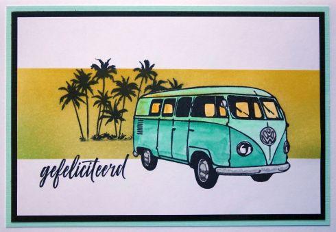 2018-04-23 Verjaardagskaart met Stempelwinkel stempels en distress inkt
