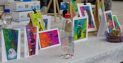 20180415 38 Art Specially workshop Dylusion spray ink1