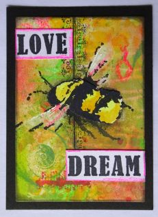 2019-04-27 gelliplate water colours oxides love and dream