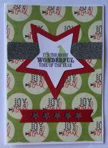 kerst scrapkaart Heide Swapp papier Crafters Companion sentiment