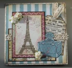 verjaardagskaart met parijs thema