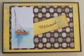 verjaardagskaart met zeilbootje